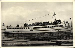 Ak Motorschip Ermelo, Ver. Toeristenbedrijven, Boulevard 16, Harderwijk