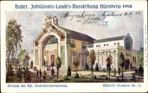 Künstler Ak Nürnberg in Mittelfranken Bayern, Gebäude der Königlichen Staatsforstverwaltung