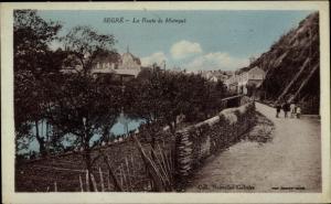 Ak Segré Maine et Loire, La Route de Maingue