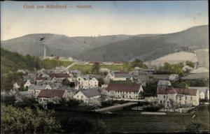 Ak Mühlbach-Heeselich, Landkreis Osterzgebirge-Sächsische Schweizchlesien, Gesamtansicht