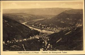 Ak Traben Trarbach Rheinland Pfalz, Luftbild, Panorama