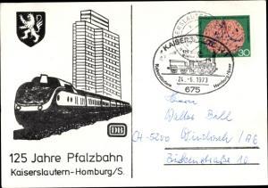 Wappen Ak Kaiserslautern in Rheinland Pfalz, 125 Jahre Pfalzbahn
