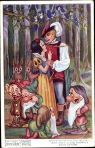Ak Disney, Schneewittchen, Snow White and the Seven Dwarfs