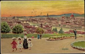 Künstler Ak Zardo, A, Firenze Florenz Toscana, Panorama