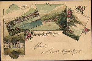 Litho Bellagio Lago di Como Lombardia, Panorama di Como, Villa d'Este, Bacino di Tremezzina