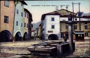 Ak Neumarkt Egna Südtirol, Unterer Platz