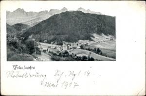 Ak Welschnofen Nova Levante Südtirol, Panorama vom Ort