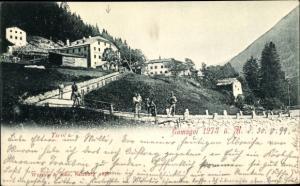 Ak Gomagoi Stelvio Südtirol, Panorama vom Ort