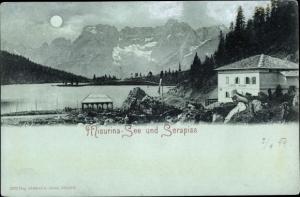 Mondschein Ak Misurina Veneto, Misurina See und Sorapiss