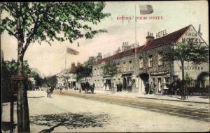 Ak Epping Essex, High Street, The Cock Hotel