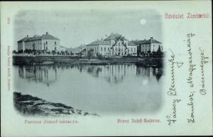 Mondschein Ak Zombor Serbien, Franz Josef Kaserne