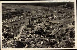 Ak Sankt Ingbert im Saarland, Fliegeraufnahme vom Ort