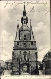 Ak Sankt Wendel Saarland, Katholische Pfarrkirche