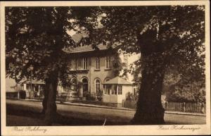 Ak Rehburg Loccum in Niedersachsen, Haus Hockemeyer, Straßenpartie