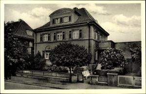 Ak Bad Nenndorf in Niedersachsen, Haus Charlotte, Hindenburgstraße 4, Gesamtansicht
