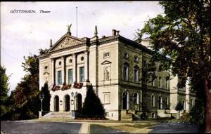 Ak Göttingen in Niedersachsen, Theater, Außenansicht