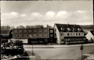 Ak Bad Nenndorf in Niedersachsen, Haus Niedersachsen, Straßenpartie