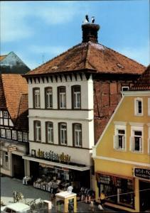 Ak Nienburg an der Weser, Straßenpartie mit Geschäften, Drogerie Seifenplatz, Stochennest