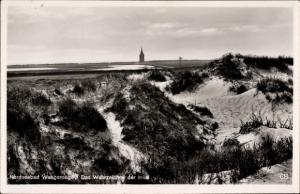 Ak Wangerooge in Friesland, Das Wahrzeichen der Insel, Westturm, Dünenblick, Panorama