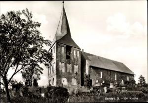 Ak Sande in Friesland, Blick auf evangelische Kirche