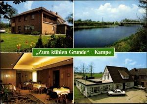Ak Kampe Friesoythe Oldenburger Münsterland, Zum kühlen Grunde, Gasthaus von A, Schiemann