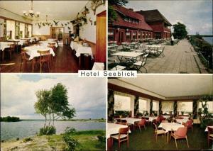 Ak Thüle Friesoythe Niedersachsen, Hotel Seeblick, Terrasse, Seeblick, Inneres