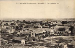 Ak Dakar Senegal, Panoramablick über die Dächer der Stadt, Umgebung