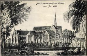 Künstler Ak Greifswald in Mecklenburg Vorpommern, Eldena Zisterzienser Kloster