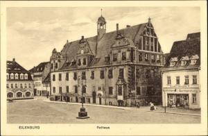 Ak Eilenburg an der Mulde Sachsen, Rathaus, Carl Himpel Buchbinderei
