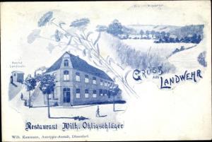Ak Landwehr Solingen in Nordrhein Westfalen, Restaurant Wilh. Ohligschläger