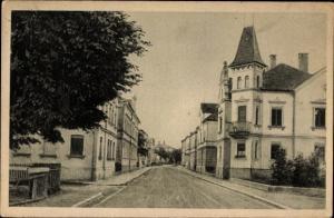 Ak Weißenhorn bayr. Schwaben, Bahnhofstraße, Straßenpartie