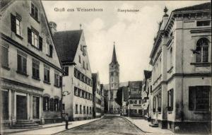 Ak Weißenhorn in Schwaben, Blick in die Hauptstraße, Geschäft Kircher' s Nachfolger, Inh. M. Mayr