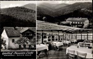 Ak Sommerau Lohberg im Bayerischen Wald, Gasthof Liebl