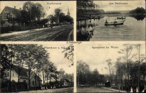 Ak Glinik Altensorge Ostbrandenburg, Dorfstraße, Spielplatz, Bestiensee, Pfarrhaus, Schule