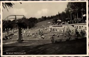 Ak Bystrzyca Kłodzka Habelschwerdt Schlesien, Bergbad