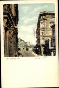 Ak Bydgoszcz Bromberg Westpreußen, Danziger Straße