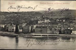 Ak Boppard am Rhein, Panorama, Ursulinen Pensionat, Kurhaus Marienberg