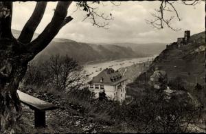 Ak Kaub in Rheinland Pfalz, Panorama, Haus Elsenburg