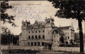 Ak Koblenz in Rheinland Pfalz, Ortsansicht, Städtische Festhalle