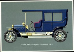 Ak Opel Motorwagen Limousine 1907