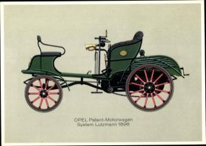 Ak Opel Patent Motorwagen System Lutzmann 1898