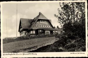 Ak Hindenburgbaude bei Zieleniec Grunwald Schlesien, Außenansicht
