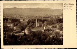 Ak Kudowa Zdrój Bad Kudowa Schlesien, Gesamtansicht vom Ort, Vogelschau