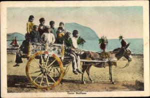 Ak Sicilia Italien, Carro Siciliano