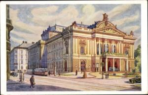 Künstler Ak Kousek, Brno Brünn Südmähren, Divadlo, Theater
