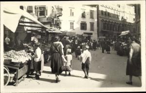 Ak Bozen Bolzano Südtirol, Obstmarkt