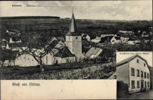 Ak Ehlenz Eifel, Kaufhaus von Adam Heinz, Totalansicht von Ort