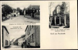 Ak Randerath Heinsberg im Kreis Heinsberg, Eingang von Dremmen und Restaurant Reiners, Feldstraße