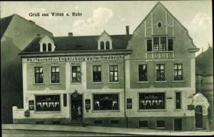 Ak Witten an der Ruhr, Restaurant zur Engelsburg