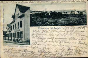 Ak Birkenfeld an der Nahe, Panorama vom Ort, Gasthaus zum Waldhorn